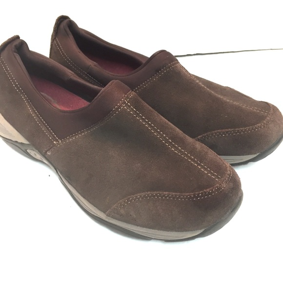 "Easy Spirit Shoes - EasySpirit ""Easyness"" brown suede slip on shoes"